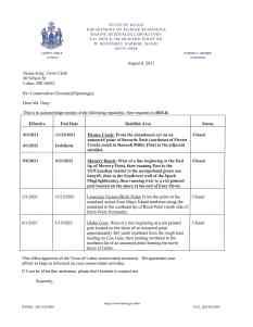 Lubec closures August 6, 2021